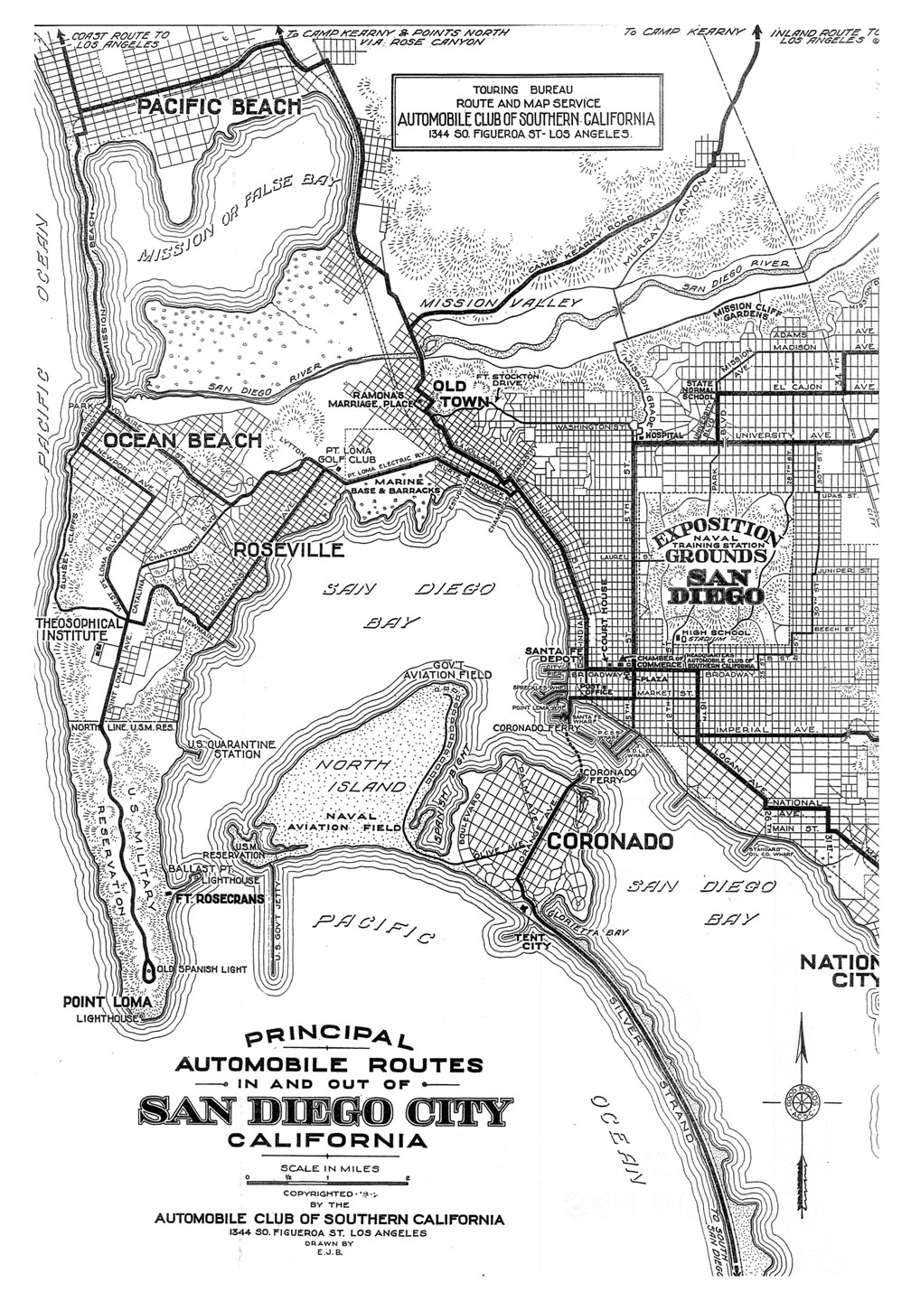 Automobile Club Of Southern California Maps Of San Diego - Jo mora los angeles map